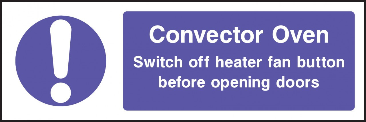 Convector oven.