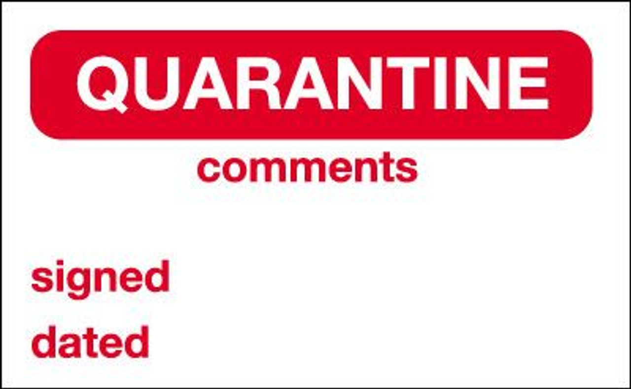 Quarantine Label