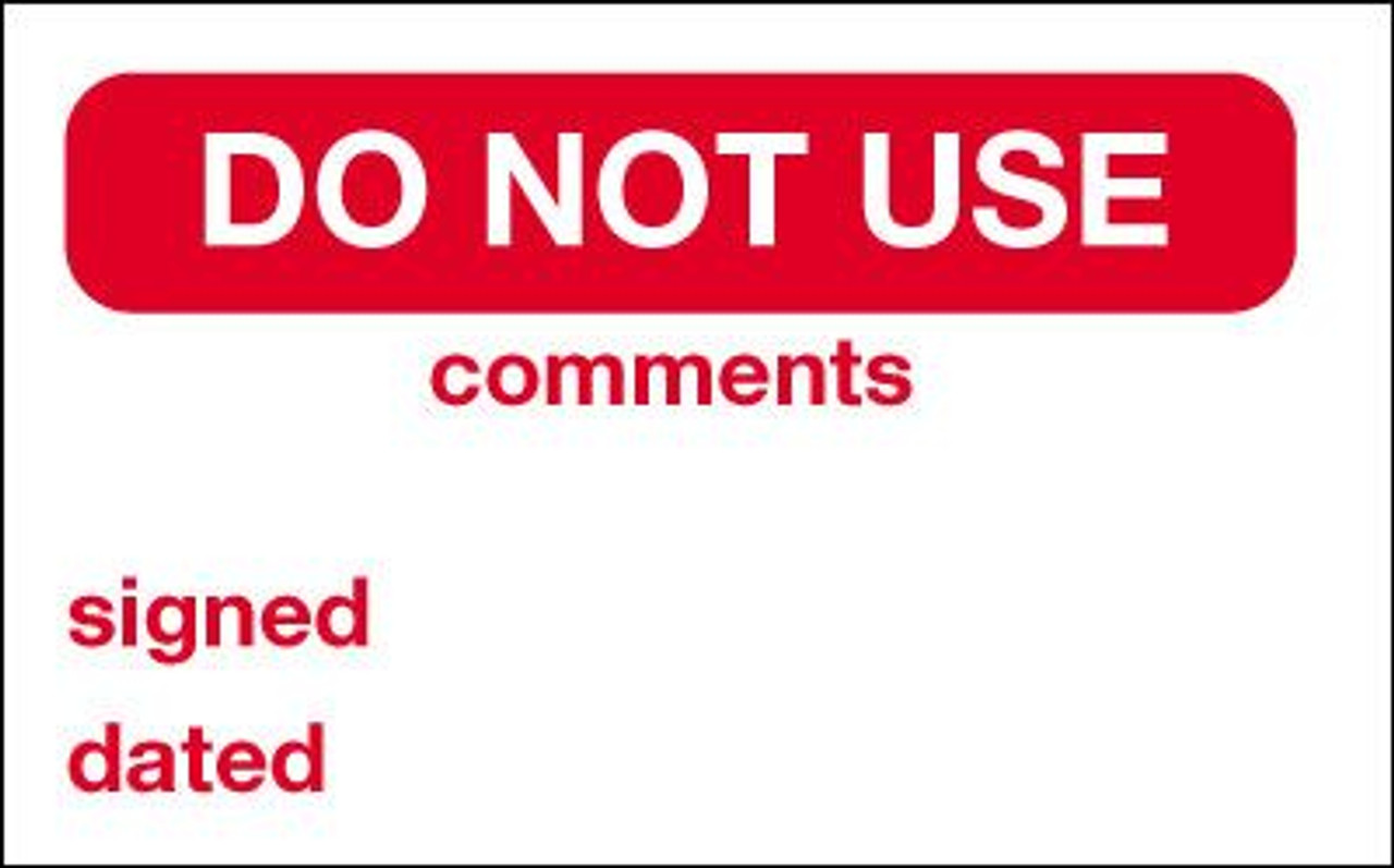 Do Not Use Label