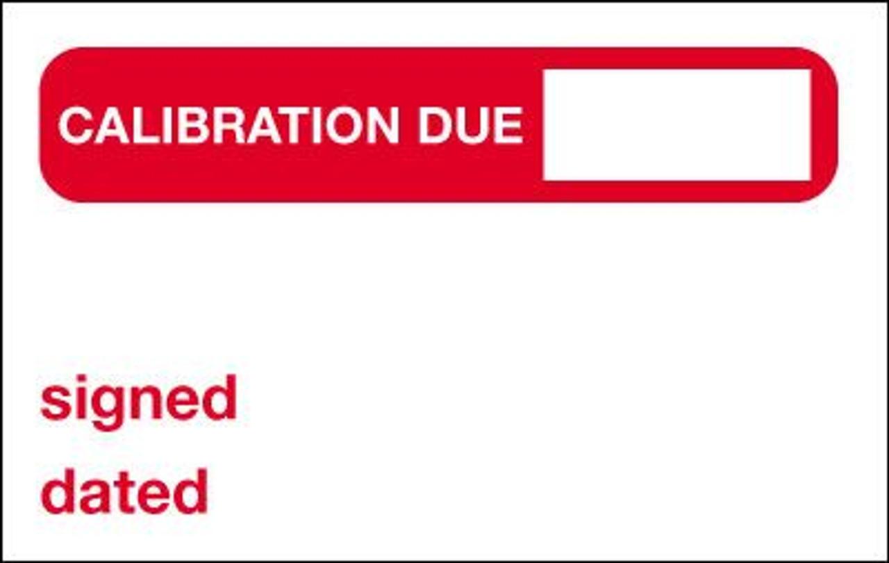 Calibration Due Label
