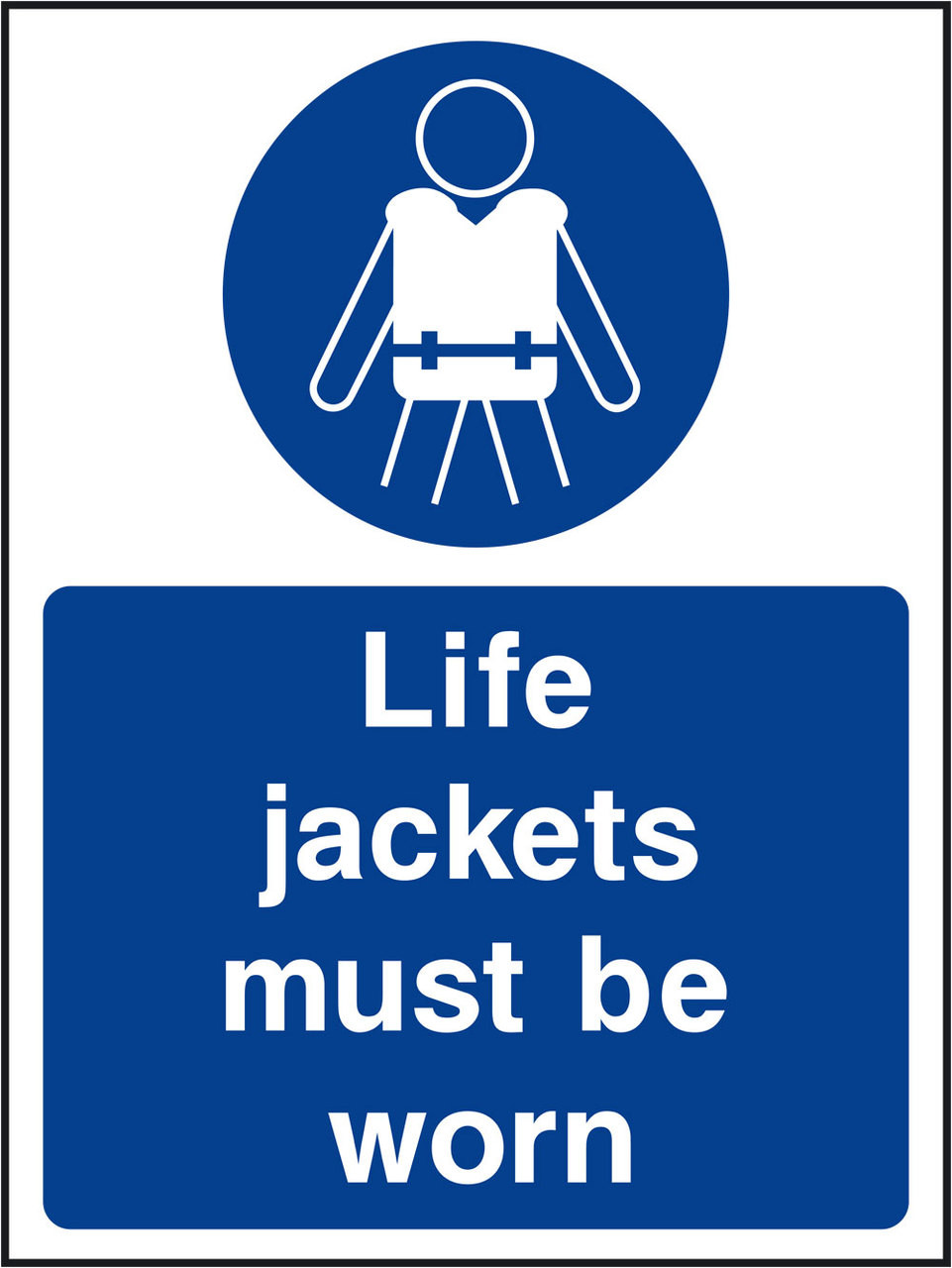 Life jackets must be worn