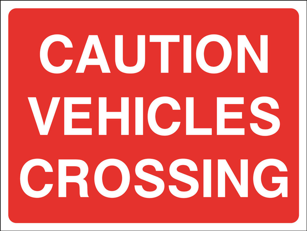 Caution vehicles crossing