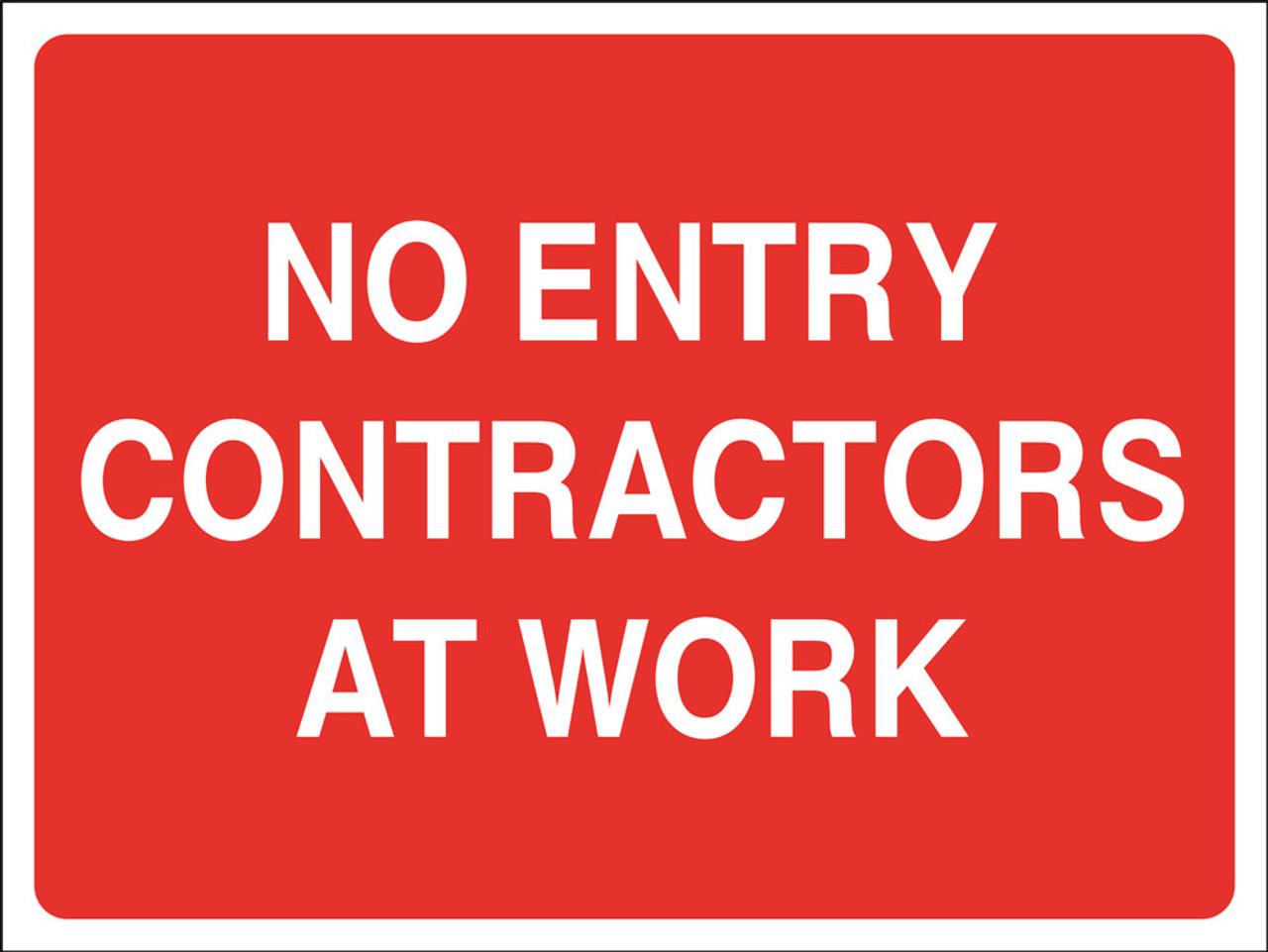 No entry contractors at work