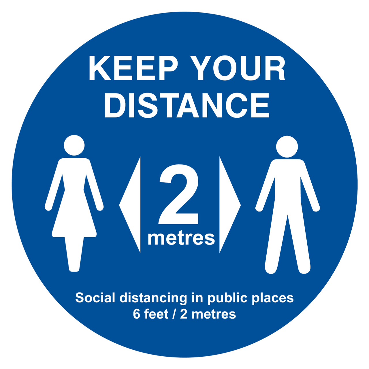 Keep Your Distance Circle Floor Sign