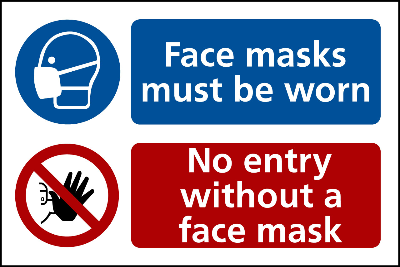 No entry without face mask Sticker