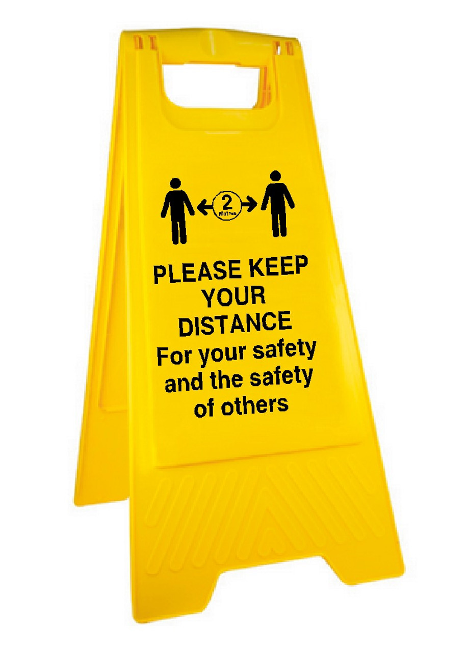 Please keep your distance Aboard