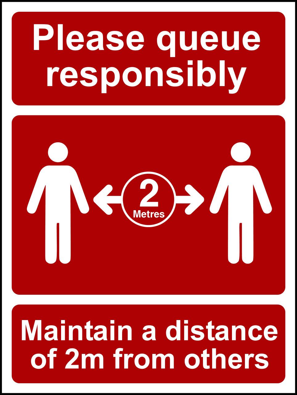 Please queue responsibly