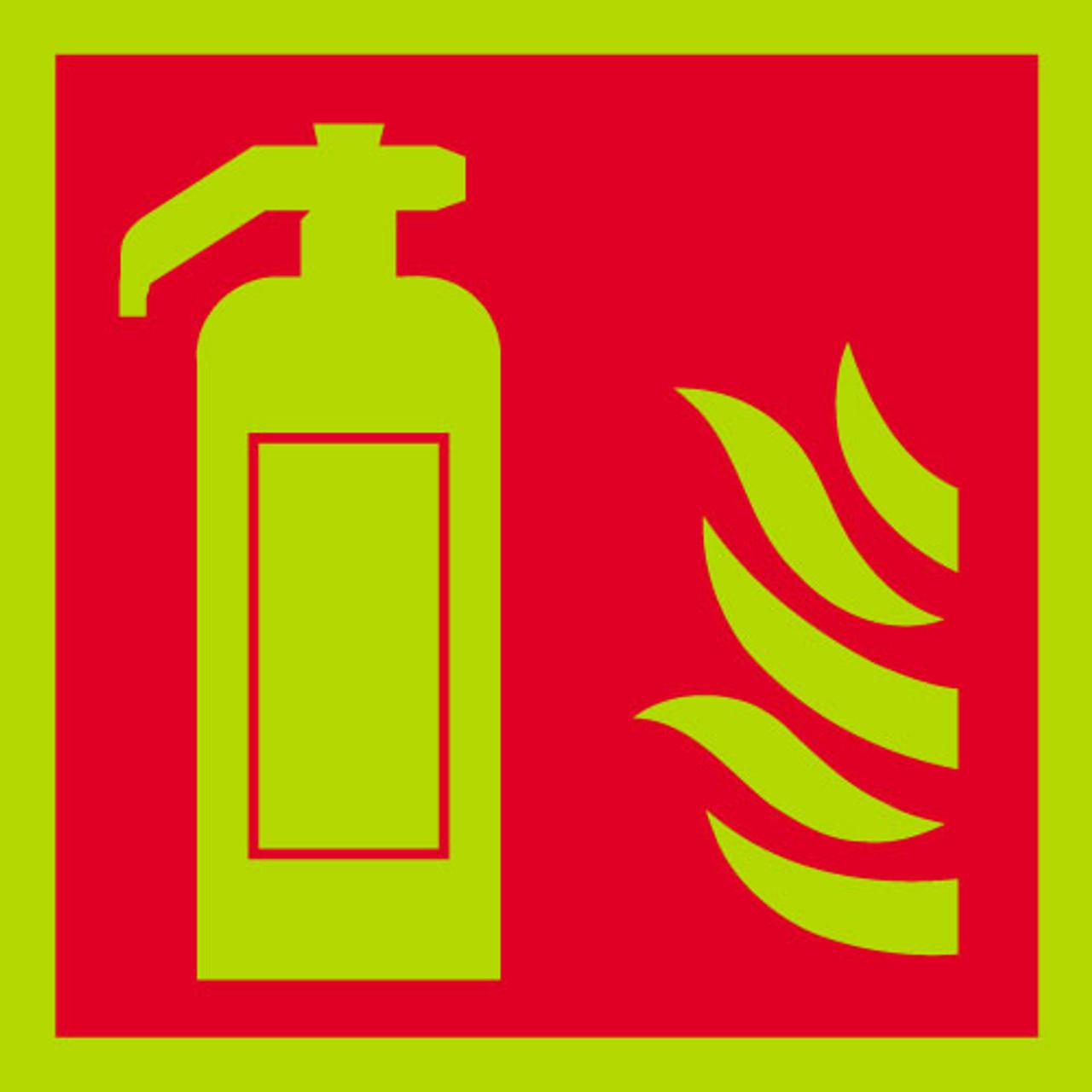 Fire Extinguisher sign, photoluminescent