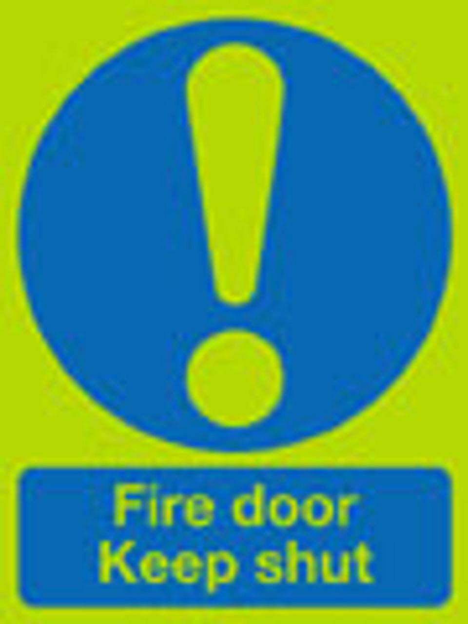 Fire door keep shut sign nite-glo