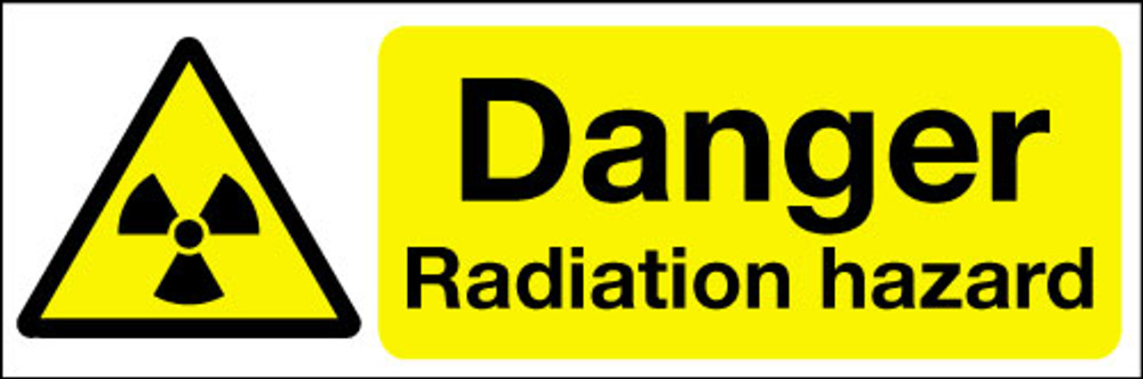 Danger radiation hazard sign