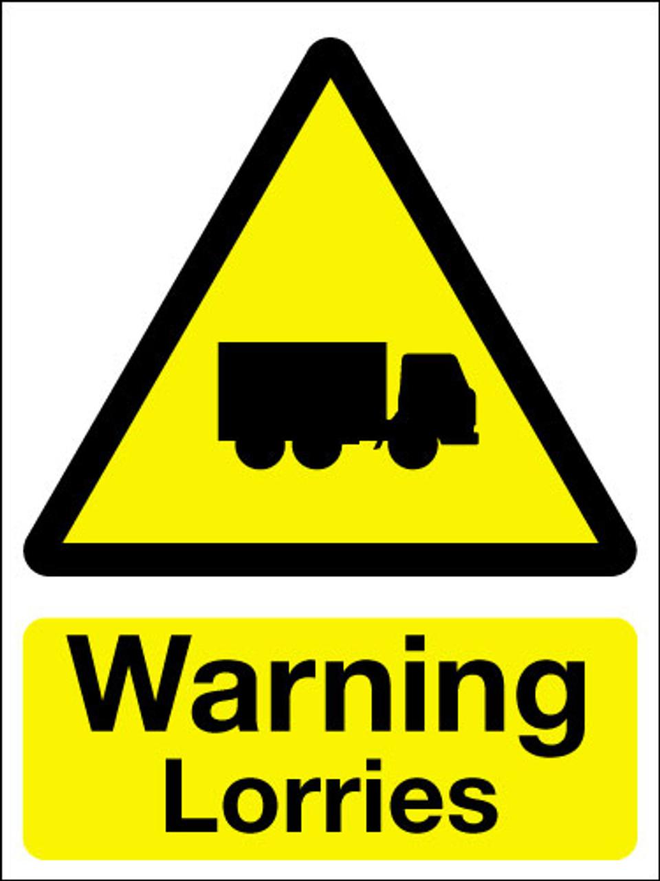 Warning lorries sign