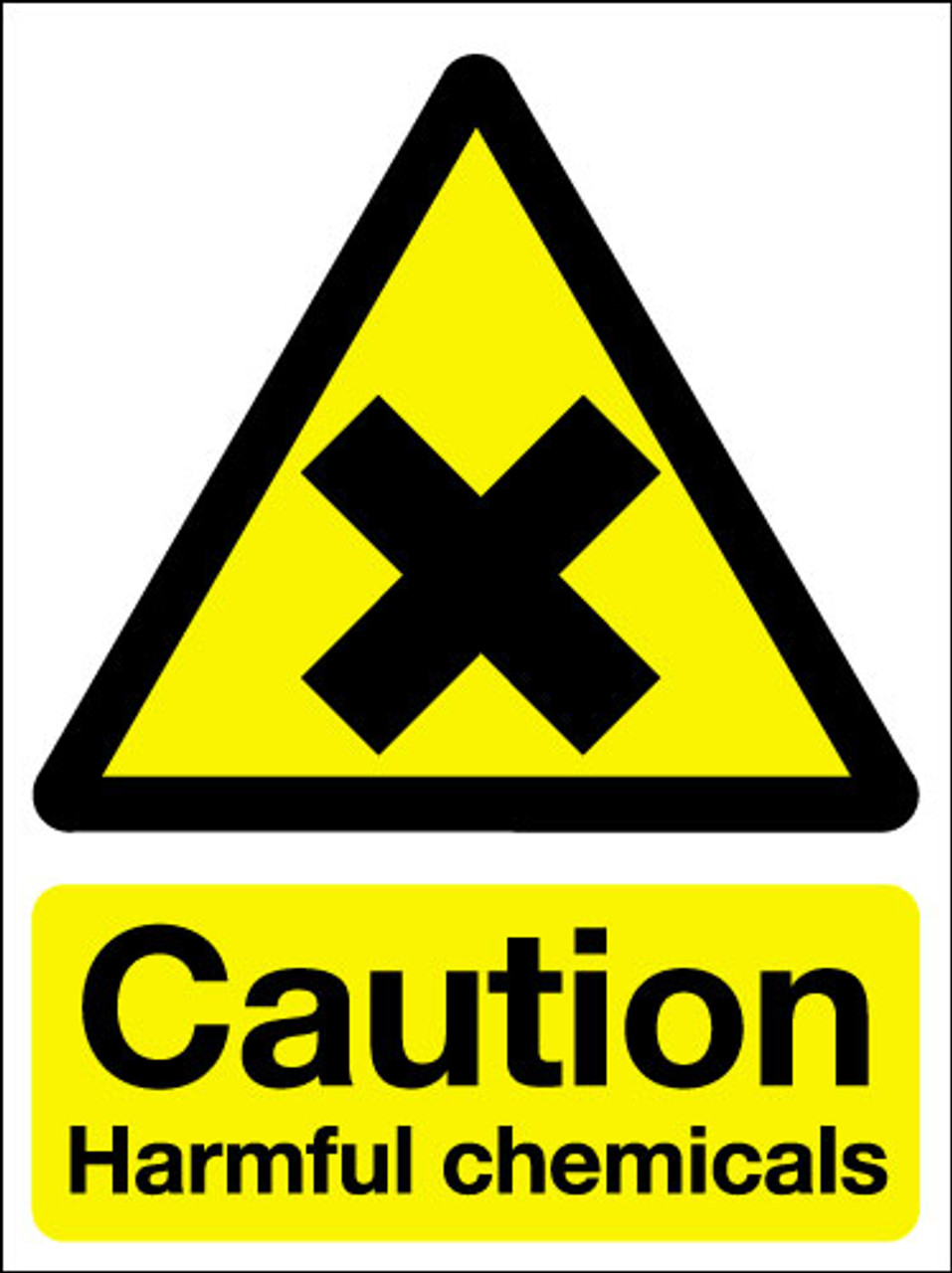 Caution harmful chemicals signs