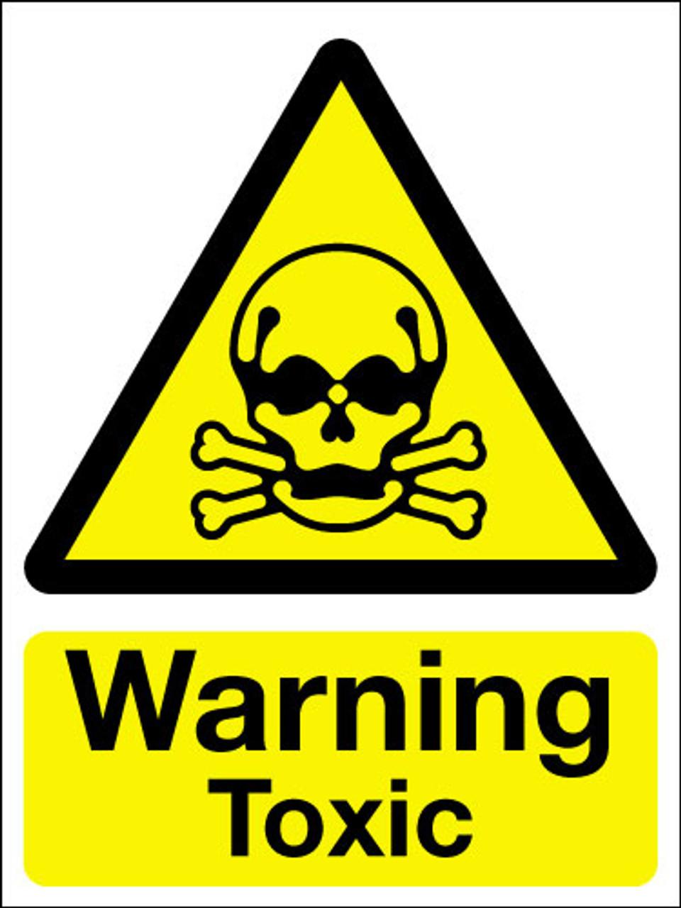 Warning toxic sign