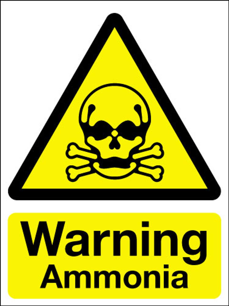 Warning ammonia ign
