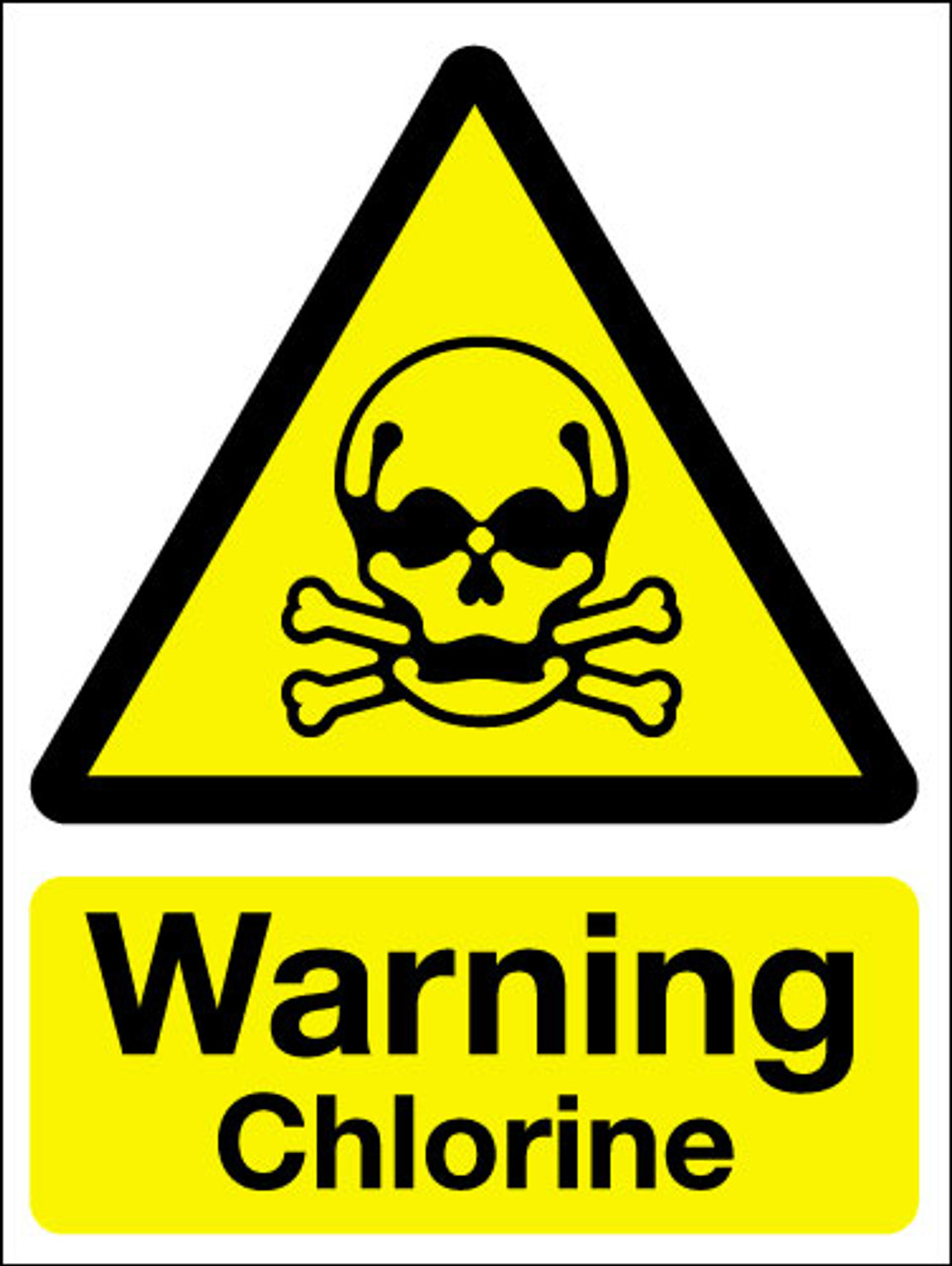 Warning chlorine sign