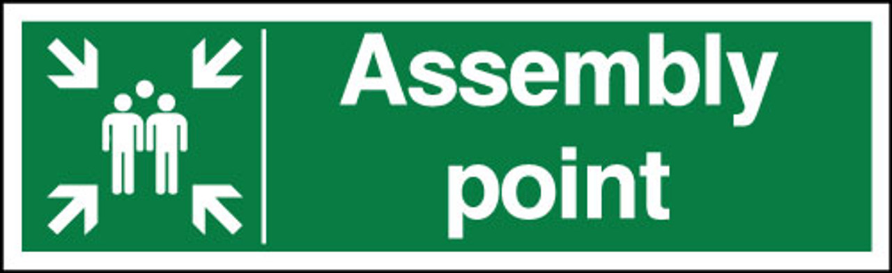 Assembly point signs