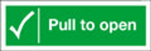 Pull to open fire exit sign