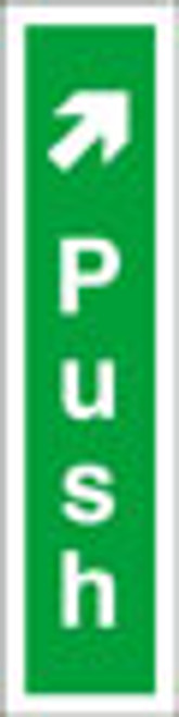 Push fire exit sign