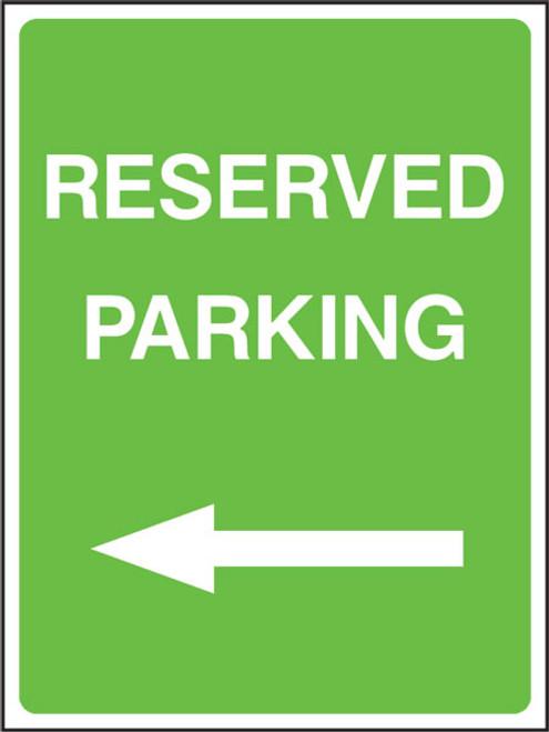 Reserved parking left