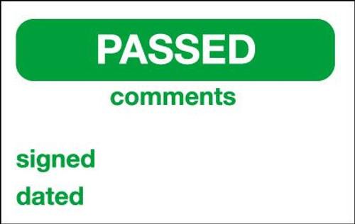 Passed Label