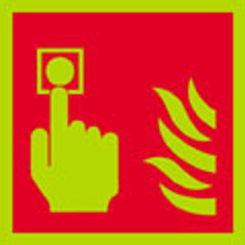 photoluminescent Fire alarm logo