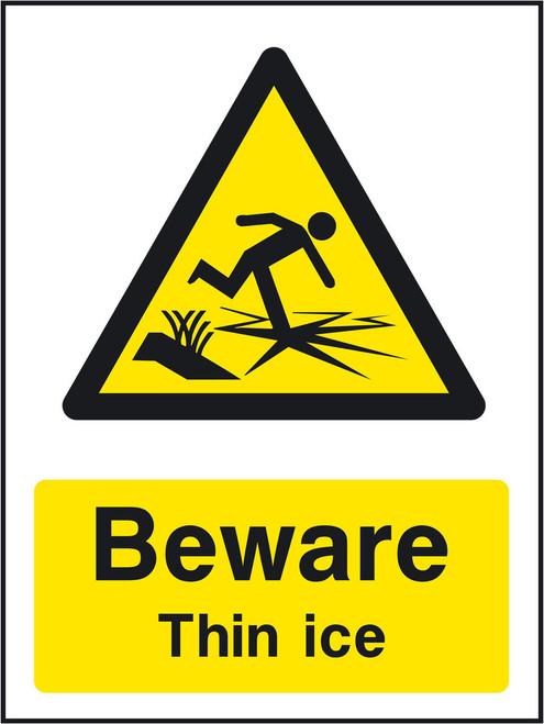 Beware Thin ice