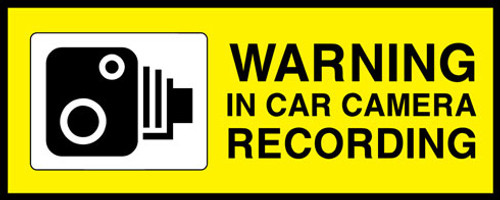 Warning In Car Camera Recording
