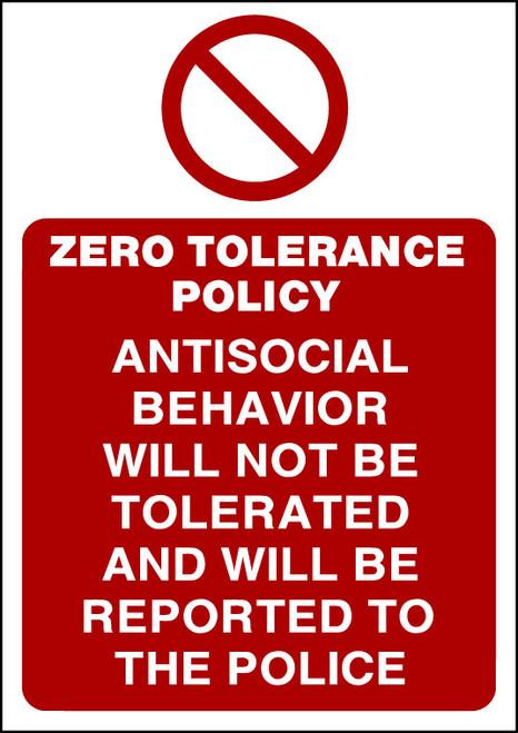 Zero Tolerance Policy 1