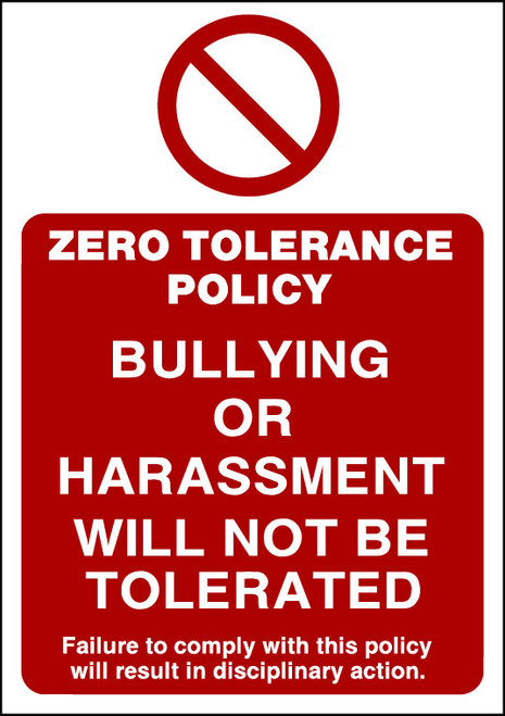 Zero Tolerance Policy 3