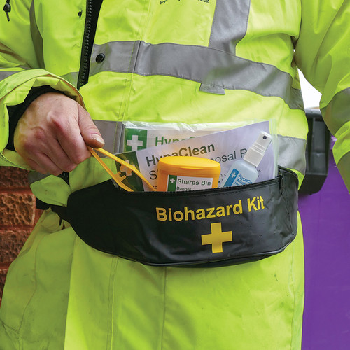 Single Sharpes & Body Fluid Disposal in Bum Bag