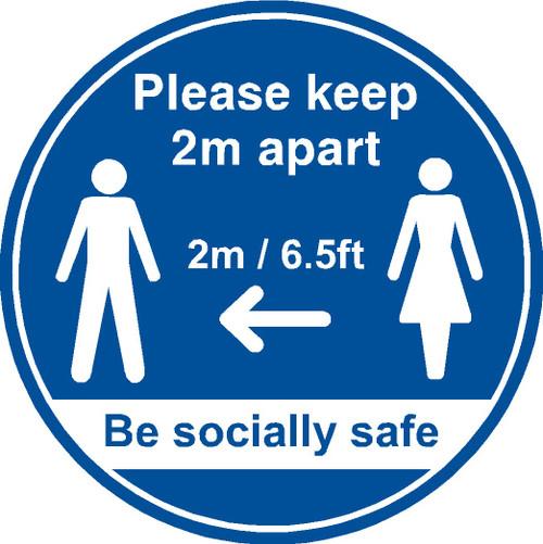 Please keep 2m apart