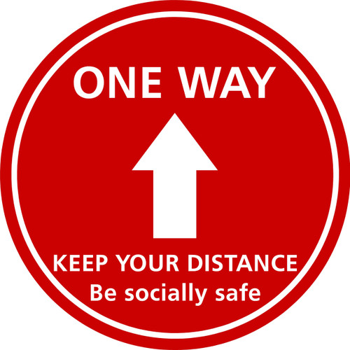 One way floor sticker