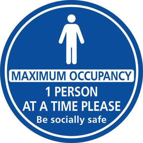2 People Maximum Occupancy floor sticker