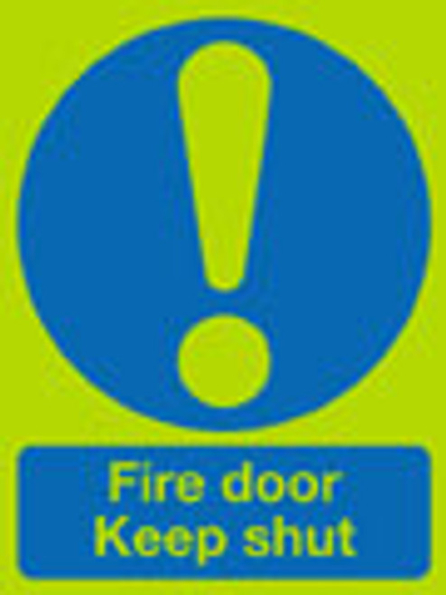 Fire door keep shut sign nite-glo