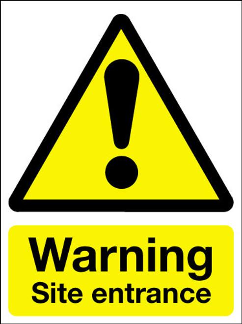 Warning site entrance correx sign