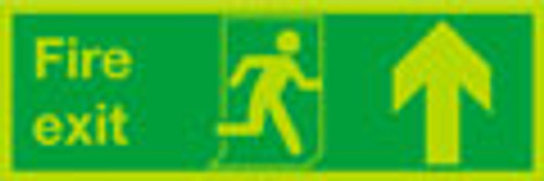 Nite-glo Fire exit up sign