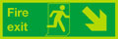 Nite-glo Fire exit sign, Down Right
