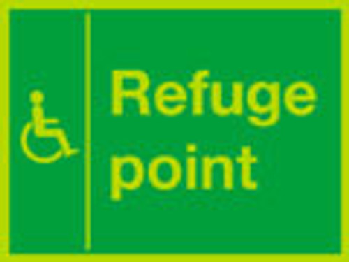 Photoluminescent Refuge point sign