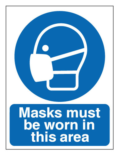 Masks must be worn in this area sign