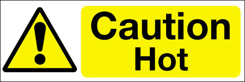 Caution hot.