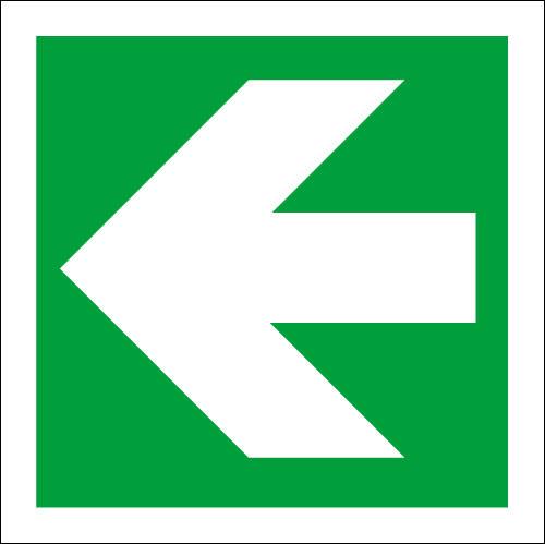 fire exit arrow logo