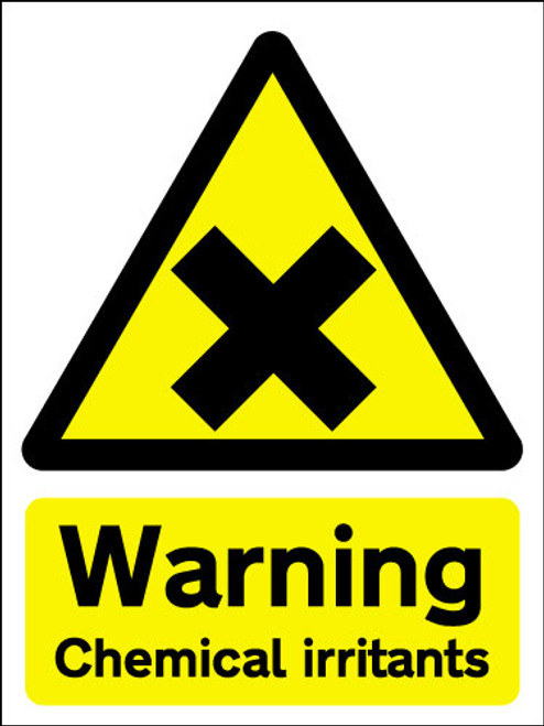 Warning chemical irritants sign