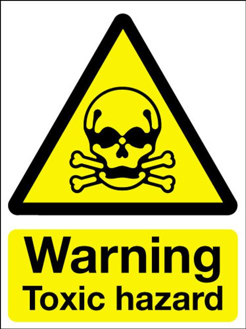 Warning toxic hazard sign