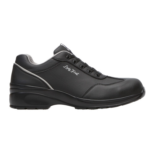 Ladies Black Microfibre Lace Safety Shoe
