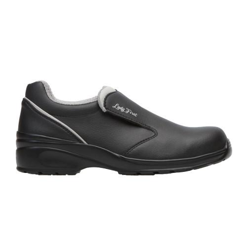 Ladies Black Microfibre Casual Safety Shoe