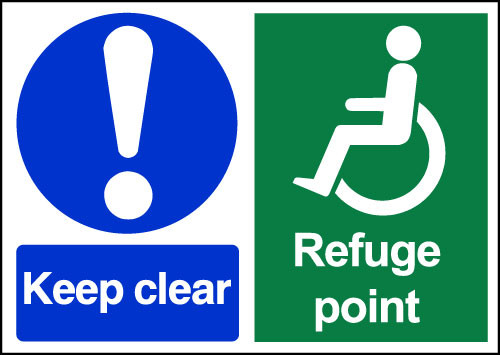 Keep clear Refuge Point Sign
