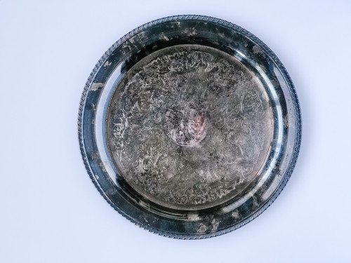 15 Inch Round Silver Tray