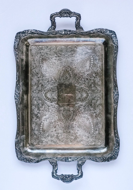 24 Inch Rectangle SilverTray