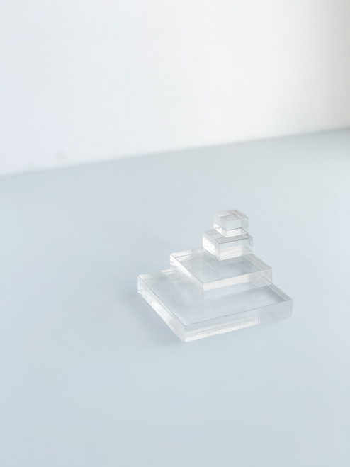 set of 4 square only acrylic styling blocks