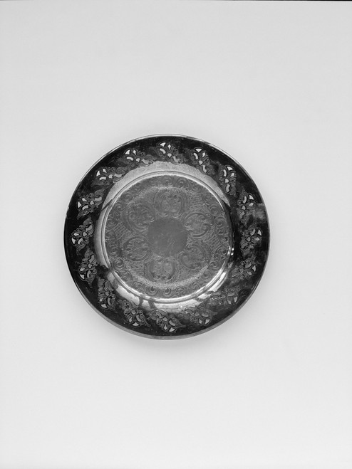 """9.5"""" Round Vintage Styling  Tray"""
